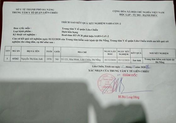 Đà Nẵng cảnh báo giả mạo phiếu kết quả xét nghiệm dương tính SARS-CoV-2 ảnh 1