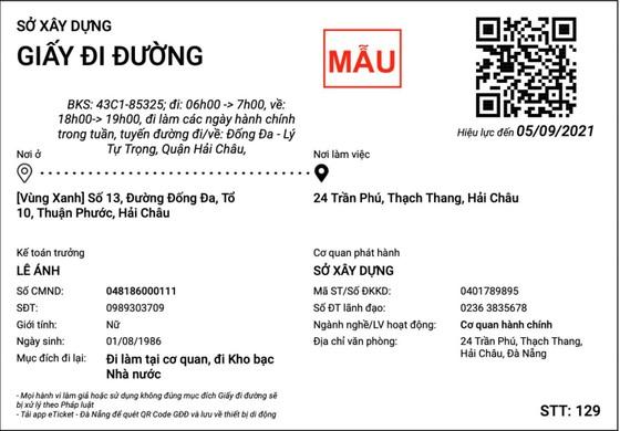 Đà Nẵng cấp giấy đi đường QR Code trực tuyến: đơn giản, gọn lẹ ảnh 3