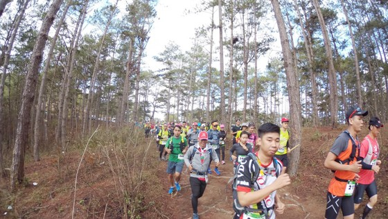 Giải siêu marathon quốc tế Dalat Ultra Trail năm 2018. Ảnh: GIA QUẢNG