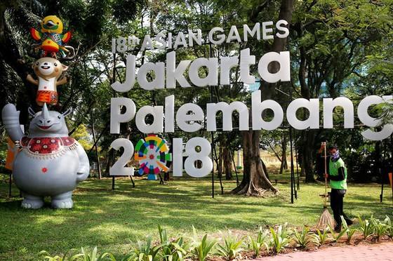Mọi công tác chuẩn bị đang được gấp rút hoàn thành để kỳ Asiad diễn ra an toàn, thuận lợi. Ảnh: Jakarta Global