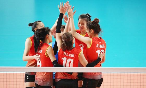 Đội tuyển bóng chuyền nữ Việt Nam đã chơi đầy cố gắng trong trận đấu với Hàn Quốc. Ảnh: