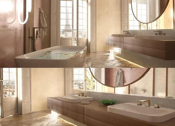 Check-in sang chảnh tại phòng tắm thiết kế tựa resort cao cấp ở châu Âu ảnh 3