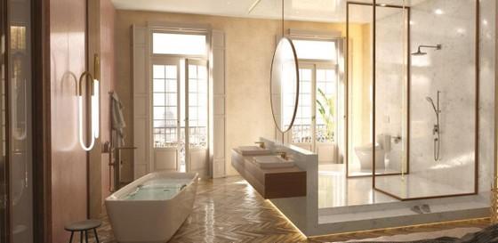 Check-in sang chảnh tại phòng tắm thiết kế tựa resort cao cấp ở châu Âu ảnh 1