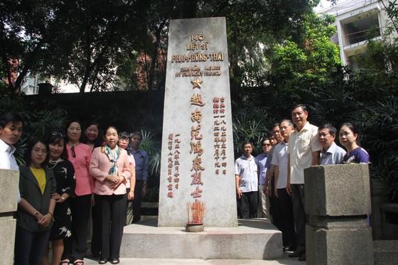 Đoàn đại biểu Thành ủy TPHCM viếng mộ liệt sĩ Phạm Hồng Thái tại Quảng Châu - Trung Quốc ảnh 1