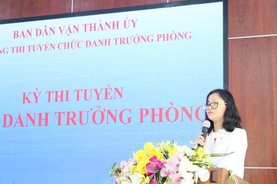 Thi tuyển chức danh trưởng phòng thuộc Ban Dân vận Thành ủy TPHCM ảnh 2