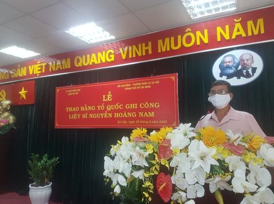 Cấp bằng Tổ quốc ghi công cho liệt sĩ 'hiệp sĩ' Nguyễn Hoàng Nam ảnh 4