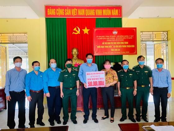 TPHCM thăm, tặng quà lực lượng biên phòng tỉnh Long An tham gia phòng chống dịch Covid-19 ảnh 2