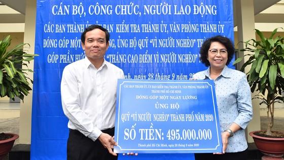 495 triệu đồng đóng góp ủng hộ Quỹ Vì người nghèo TPHCM ảnh 1