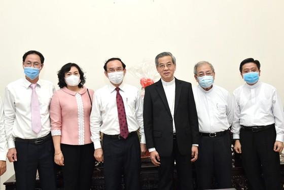 Đoàn lãnh đạo TPHCM thăm, chúc mừng năm mới các vị chức sắc tôn giáo  ảnh 2