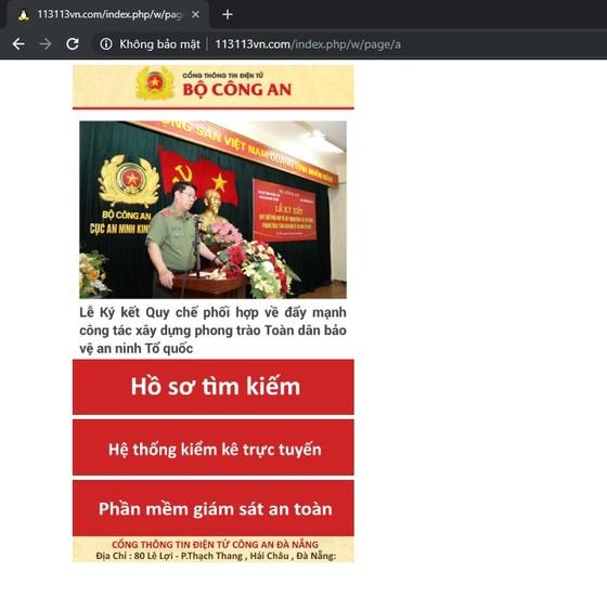 Cảnh báo trang web giả mạo Công an Đà Nẵng, Bộ Công an để lấy trộm dữ liệu ảnh 1