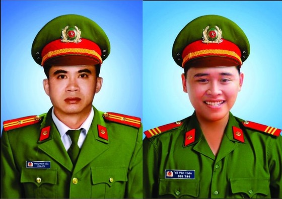 Thăng cấp bậc hàm cho hai chiến sĩ hy sinh khi làm nhiệm vụ ảnh 1