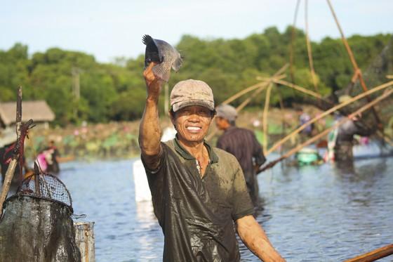 Hàng trăm người reo hò, lội bùn bắt cá cầu may  ảnh 4