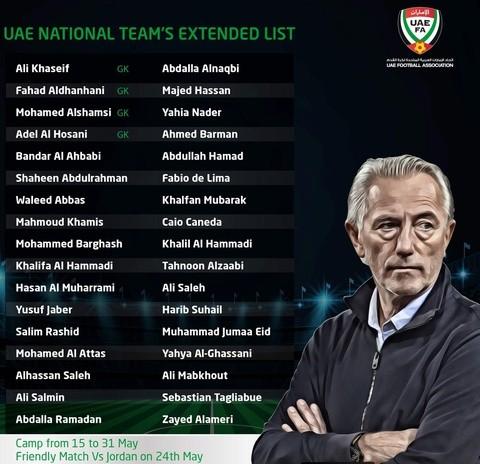 UAE triệu tập 34 cầu thủ chuẩn bị tiếp đón Đội tuyển Việt Nam ảnh 2