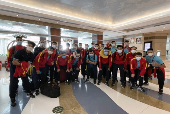 Đội tuyển futsal Việt Nam đã đặt chân đến UAE. Ảnh: ANH TRẦN