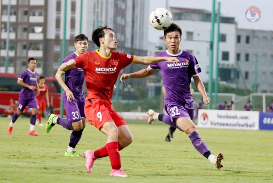 Thông tin kết quả về trận đấu tập giữa 2 đội tuyển quốc gia và U22 được bảo mật. Ảnh: VFF