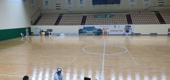 """Bộ mặt mới của nhà thi đấu Khorfakkan Hall sau khi được """"cải tạo"""". Ảnh: FAT"""