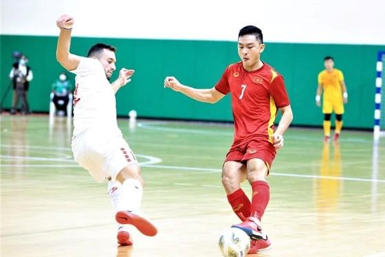 Đội tuyển futsal Việt Nam đã cầm hòa 0-0 trước Lebanon. Ảnh: LFA