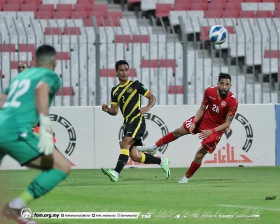 Đội tuyển Malaysia nhận thất bại 0-2 trước Bahrain. Ảnh: FAT