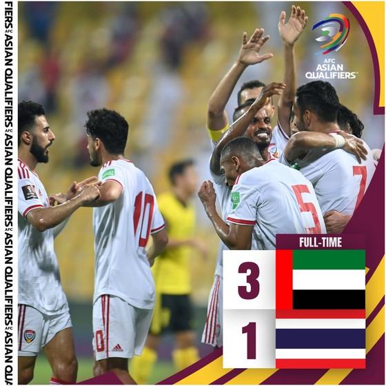 UAE loại Thái Lan, tiếp tục bám đuổi đội tuyển Việt Nam ảnh 1