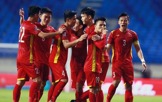 Niềm vui chiến thắng của đội tuyển Việt Nam trước Indonesia. Ảnh: ANH KHOA