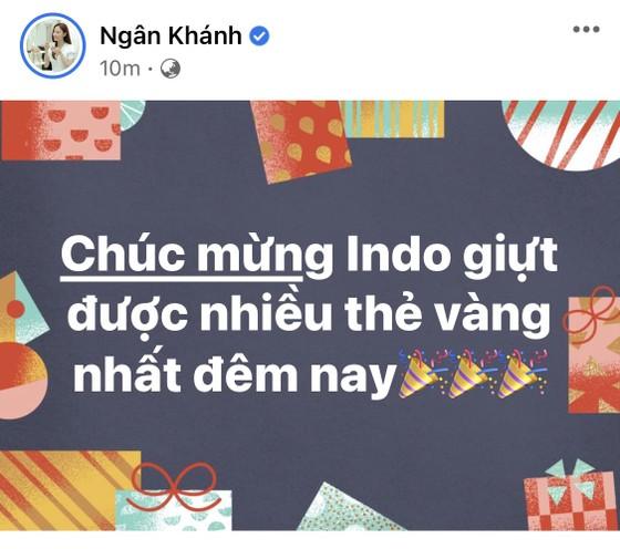 Giới nghệ sĩ thức khuya ăn mừng chiến thắng của tuyển Việt Nam ảnh 4
