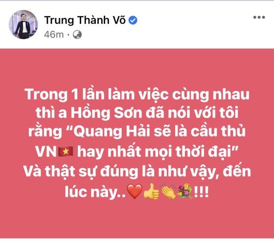Giới nghệ sĩ thức khuya ăn mừng chiến thắng của tuyển Việt Nam ảnh 5