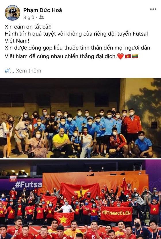 Các tuyển thủ futsal Việt Nam đồng loạt gửi lời cảm ơn đến người hâm mộ ảnh 3