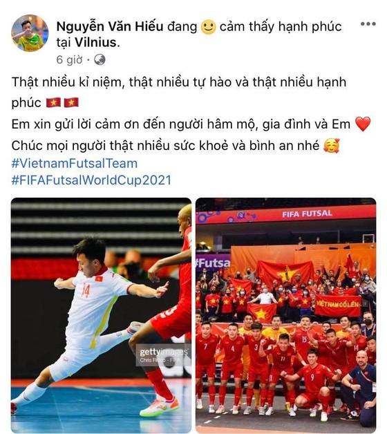 Các tuyển thủ futsal Việt Nam đồng loạt gửi lời cảm ơn đến người hâm mộ ảnh 5
