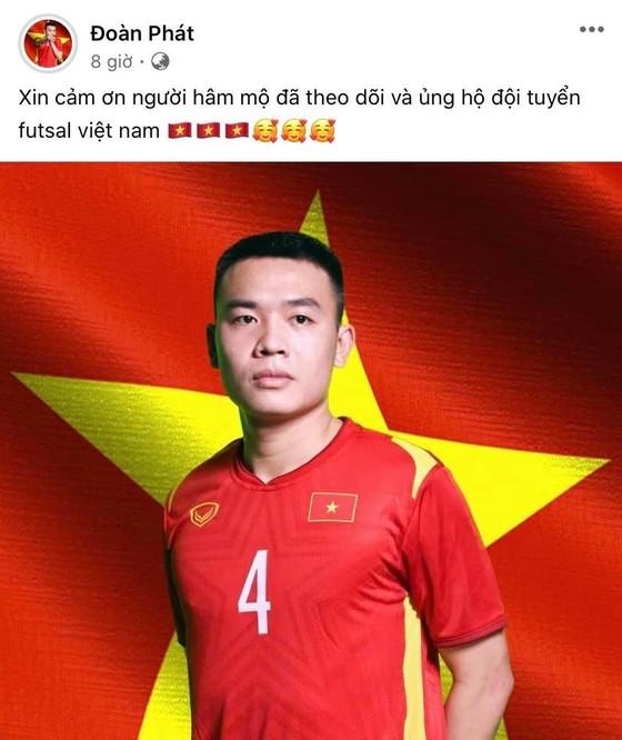 Các tuyển thủ futsal Việt Nam đồng loạt gửi lời cảm ơn đến người hâm mộ ảnh 6
