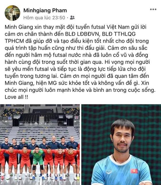 Các tuyển thủ futsal Việt Nam đồng loạt gửi lời cảm ơn đến người hâm mộ ảnh 1