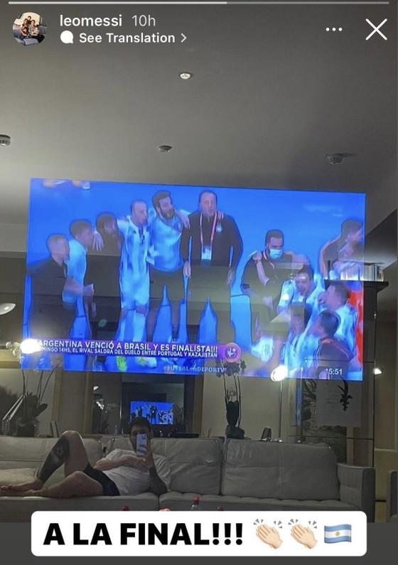 Messi hào hứng khi Argentina loại Brazil ở Futsal World Cup ảnh 2