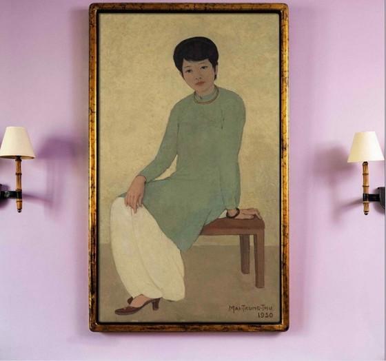 """Bức tranh """"Chân dung cô Phương"""" của danh hoạ Mai Trung Thứ được gõ búa hơn 3 triệu USD ảnh 1"""