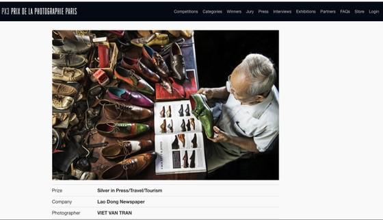 Bức ảnh 'Nghệ nhân đóng giày 90 tuổi' đoạt huy chương bạc tại Pháp ảnh 1