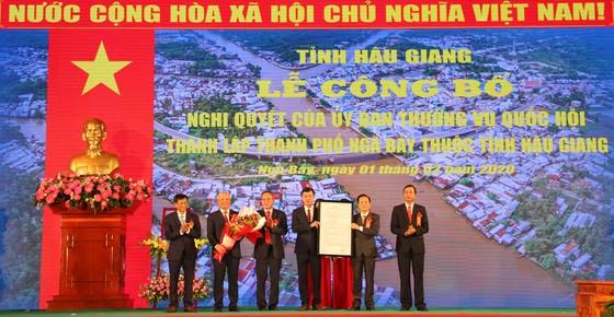 Công bố thành lập thành phố Ngã Bảy  ảnh 1