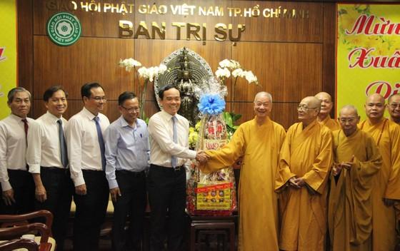 Lãnh đạo TPHCM thăm, chúc tết Ban Trị sự Giáo hội Phật giáo Việt Nam TPHCM và các hòa thượng ảnh 1