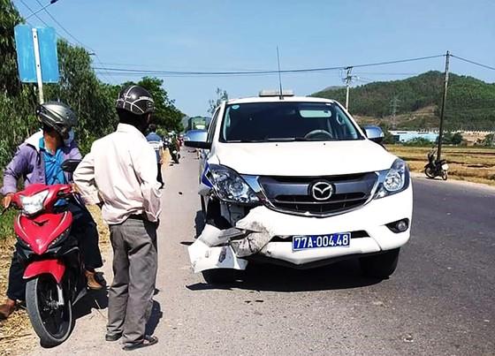 Xe của CSGT tỉnh Bình Định tông chết người trên QL19 ảnh 1