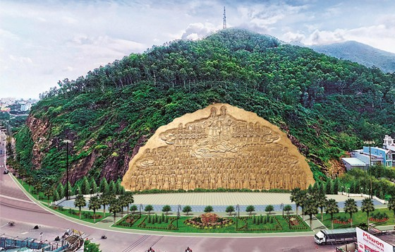 Bình Định dự kiến tạc phù điêu vách núi dài 81,5m, chưa có con số cụ thể về kinh phí ảnh 1
