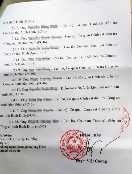 Vụ cựu cán bộ Cục Thuế Bình Định nhận hối lộ: Tòa phúc thẩm triệu tập bổ sung 10 điều tra viên ảnh 3