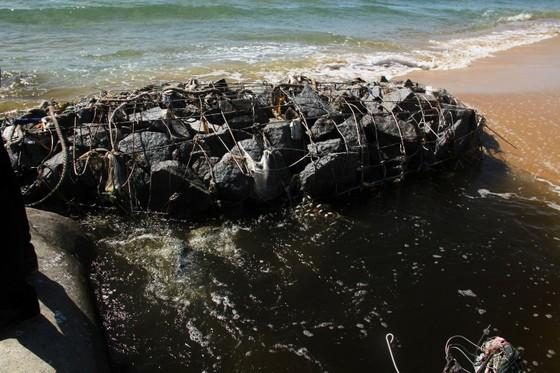 Xuất hiện cống xả nước thải đen ngòm ra bãi biển Bình Định ảnh 5