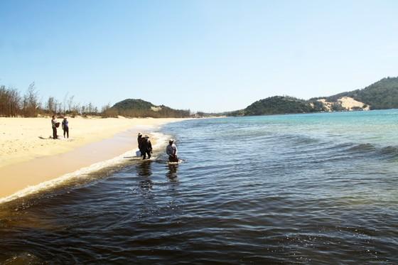 Xuất hiện cống xả nước thải đen ngòm ra bãi biển Bình Định ảnh 4