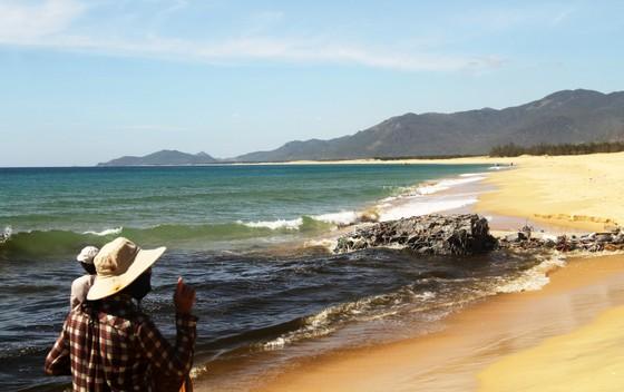 Xuất hiện cống xả nước thải đen ngòm ra bãi biển Bình Định ảnh 1