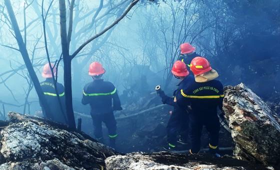 Vật vã khống chế đám cháy trên núi Bà Hỏa ảnh 1
