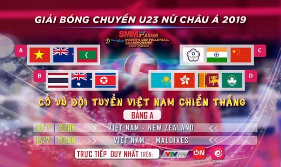 Giải Vô địch Bóng chuyền nữ U23 Châu Á phát sóng độc quyền trên VTVcab