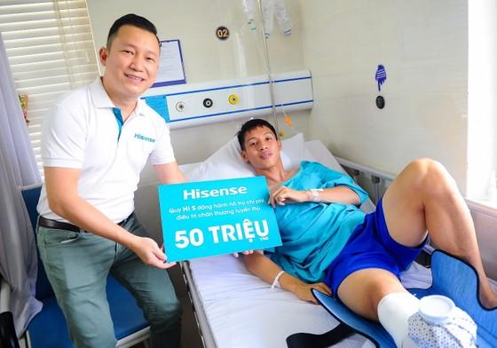 Quỹ Hi S từ Hisense Việt Nam hỗ trợ Hùng Dũng 50 triệu đồng ảnh 1