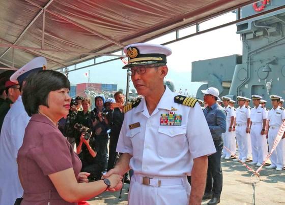 Hai tàu huấn luyện thuộc lực Lượng tự vệ trên biển Nhật Bản cập cảng Tiên Sa ảnh 1