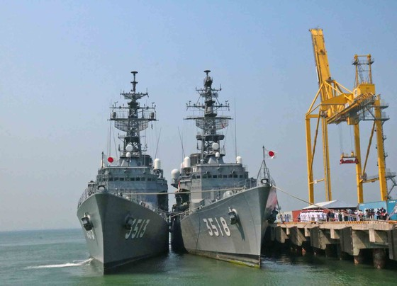 Hai tàu huấn luyện thuộc lực Lượng tự vệ trên biển Nhật Bản cập cảng Tiên Sa ảnh 3