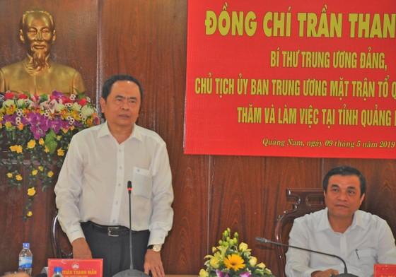 Chủ tịch UBTƯ MTTQ Việt Nam Trần Thanh Mẫn duyệt kế hoạch Đại hội MTTQ VN tỉnh Quảng Nam  ảnh 1
