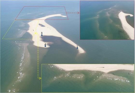 Cồn cát Cửa Đại bồi thêm 50 mét ảnh 1