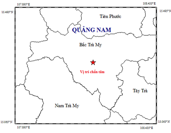 Động đất tại Bắc Trà My ảnh 1