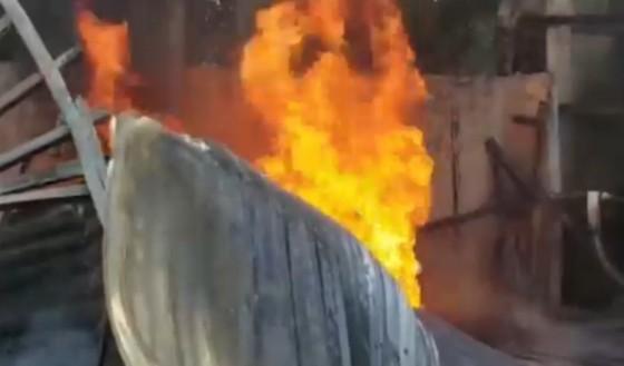 Quảng Nam: Cháy lớn tại kho hải sản ảnh 1